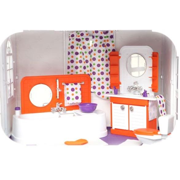 Ванная комната для кукольного домика конфетти огонек