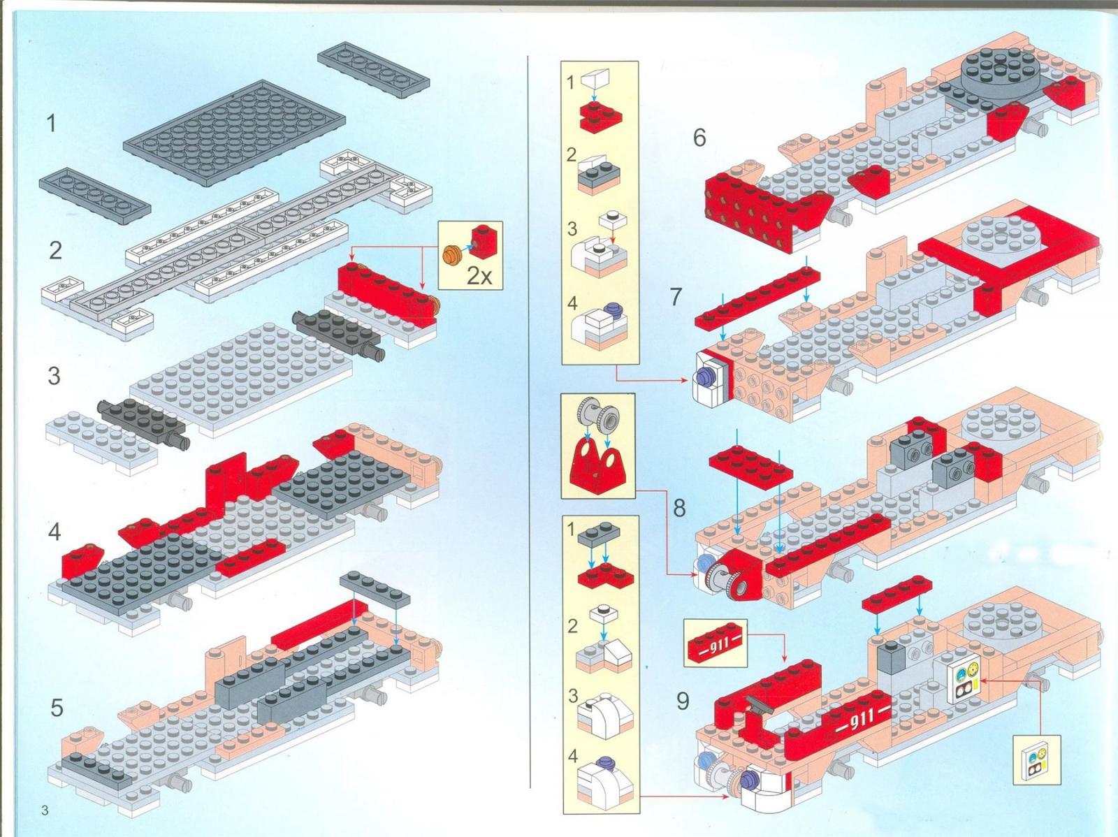 инструкция по сборке лего пожарная машина pn60107