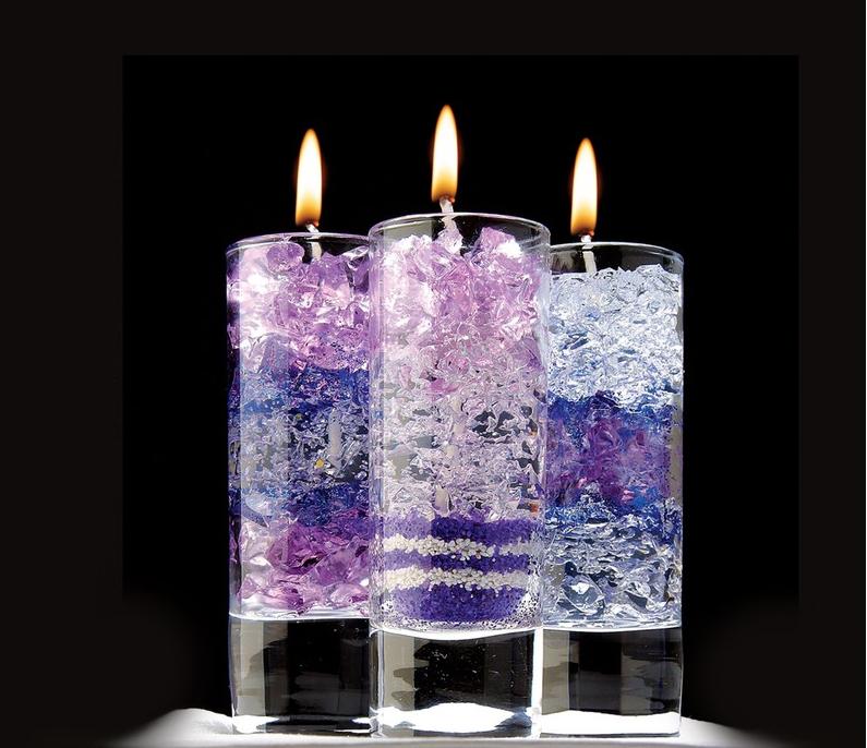Декоративные композиции из свечного геля фото