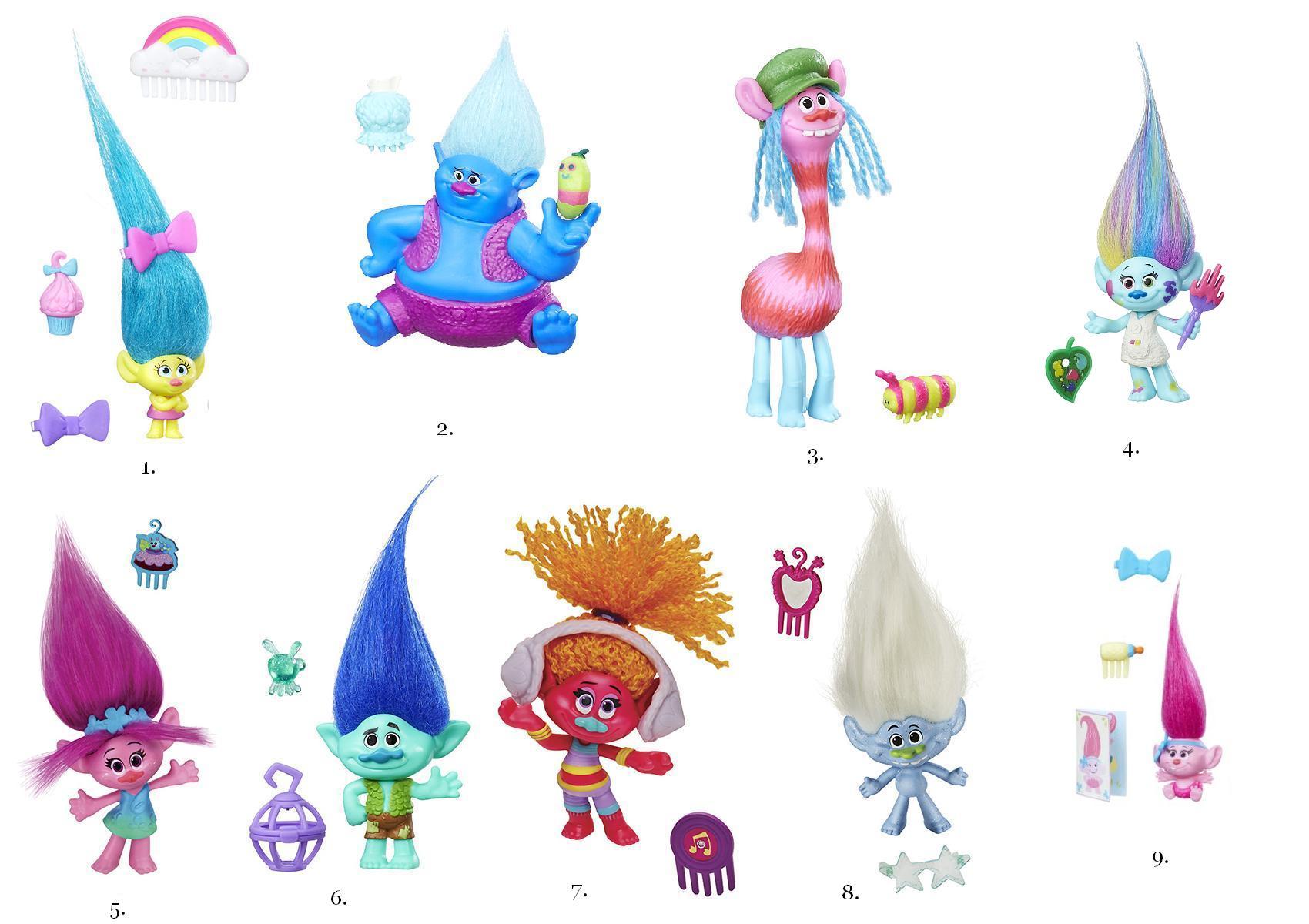 Тролли мультфильм картинки всех персонажей