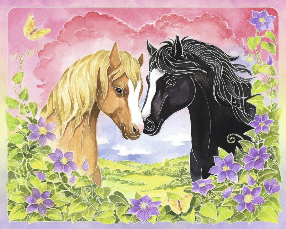 Открытки для детей лошадки, наступающим днем