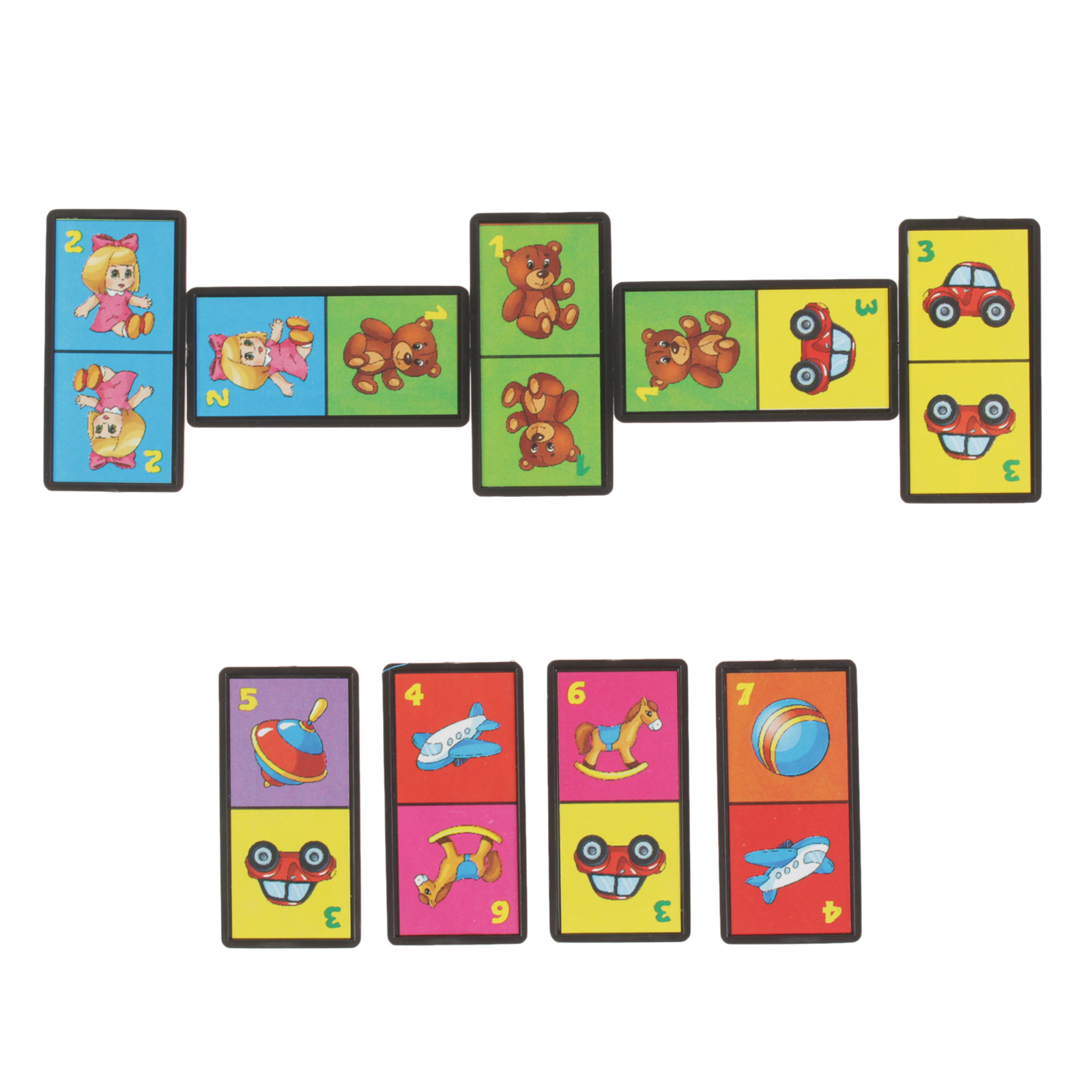 Домино с картинками для детей