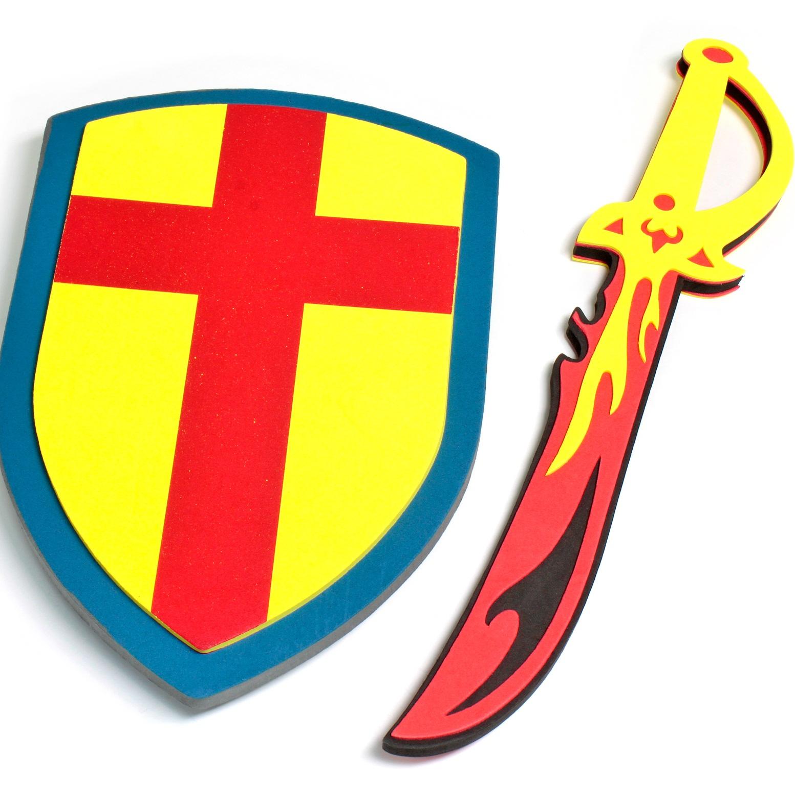 носить детские мечи и щиты хорошее походное