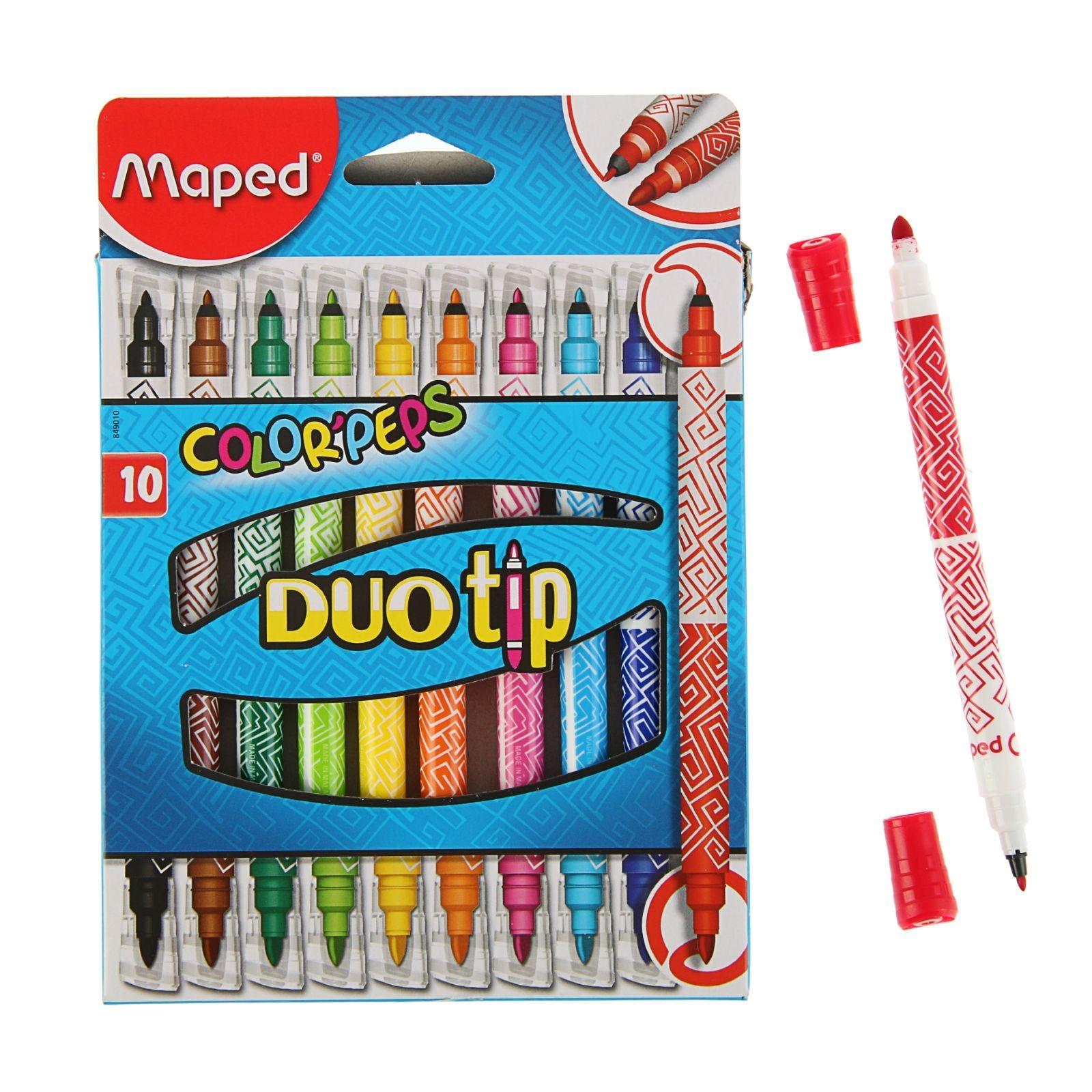 Фломастеры Color Peps 10цв ДУО