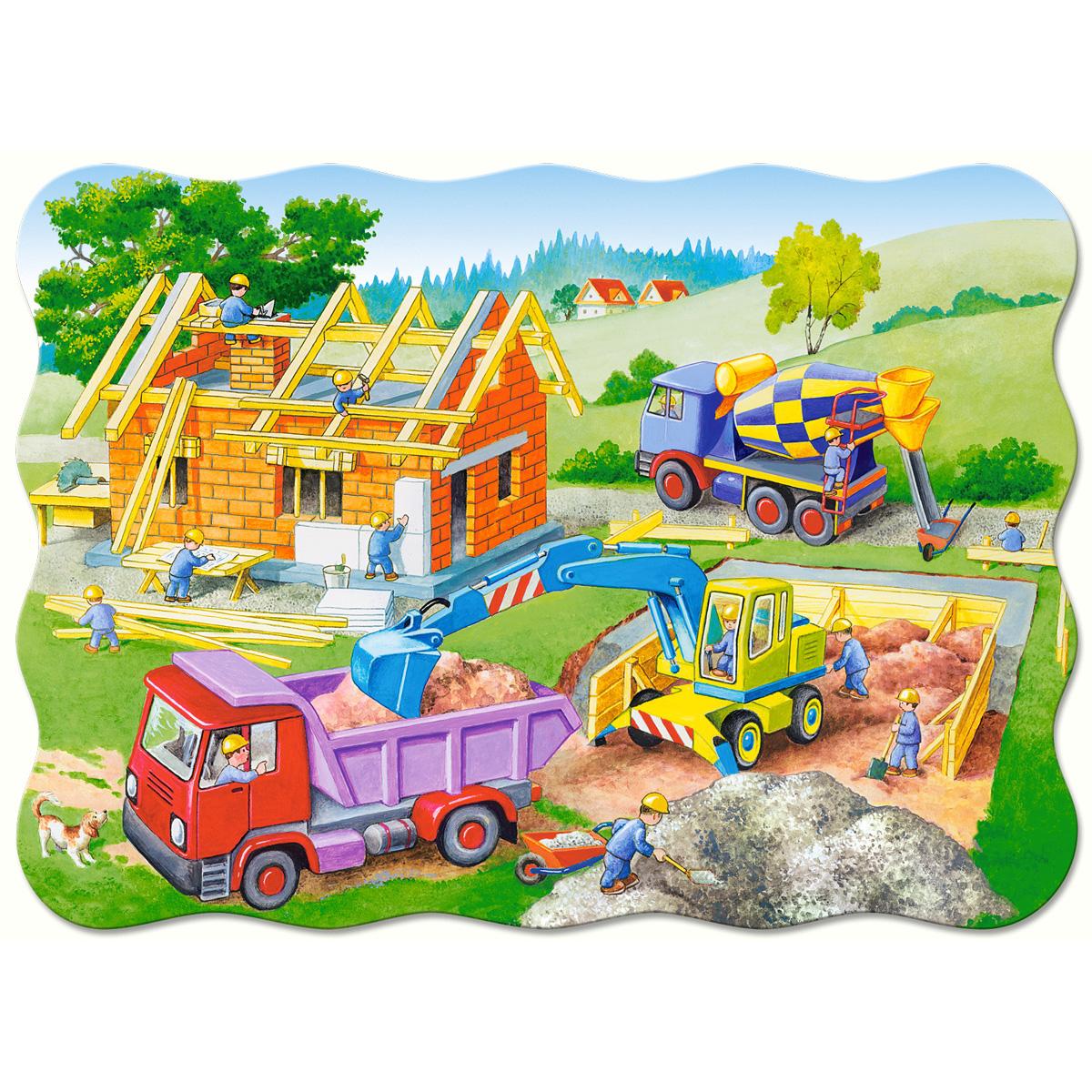Картинки стройки дома для детей
